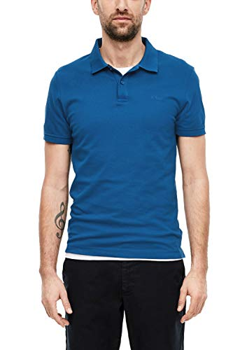 s.Oliver Herren 03.899.35 Poloshirt, Blau(blue), Large