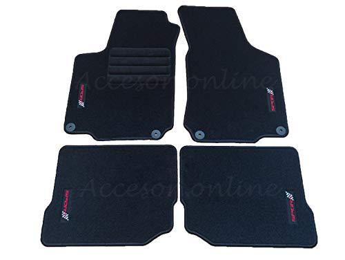 Accesorionline Alfombrillas para Seat Leon I 1999-2005 MK1 alfombras 1M FR Cupra Sport