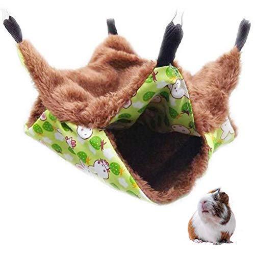 Akemaio Pet Cage Hamac Double Face, Animal de Compagnie Sac de Couchage Maison Hanging Lit pour Petits Animaux Guinée Cochon Rat Hérisson