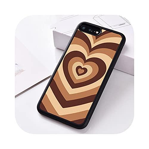 Funda de silicona para iPhone 6 6S 7 8 Plus 5 5S SE X XS XR 11 12 MINI PRO MAX Latte Love Coffee Heart-Para iPhone SE 2016