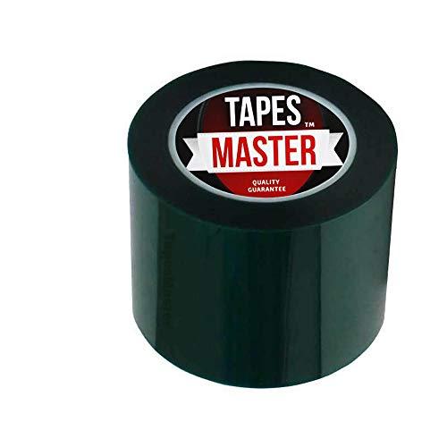 "4"" X 72 Yds - Tapes Master 2 Mil Green Powder Coating Masking Tape - High Temperature"