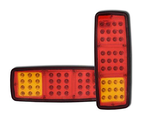 2 x 12 V 36 SMD LED Rückleuchten 3 Funktionen Rückleuchten für Wohnwagen Mini Anhänger LKW Wohnmobil Wohnmobil PKW Pickup ATV Pferdebox