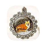 Youkeshan HomeXBest Collier avec pendentif en forme de renard - Bijoux d'animaux - Photographie de la faune - Collier de renard rouge - Pendentif nature - Bijoux de forêt
