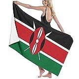 XINGAKA Sandtuch,Badetuch,Kenia Flagge Republik Kenia Flaggen,Hohe Absorption. Superweiche Haushaltsbadehandtücher, Fitness, Camping, Yoga, Badetücher XINGAKA Sandtuch,Badetuch