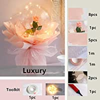 LED Luminous Balloon Rose Bouquet Artificial Dried Flowers Birthday Decoration Valentine's Day Led Light Balloon Artificial Rose