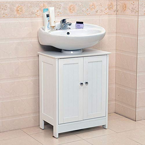 FRITHJILL Bathroom Sink Cabinet,Bathroom Vanity with 2 Doors Traditional Bathroom Cabinet Space Saver Organizer