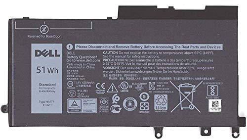 Dell DJWGP BTRY PRI 51WHR 3C LITH BYD (3rd Party alternative for D4CMT. 451-BBZT 83XPC) :: (Spare Parts  Replacement Batteries)