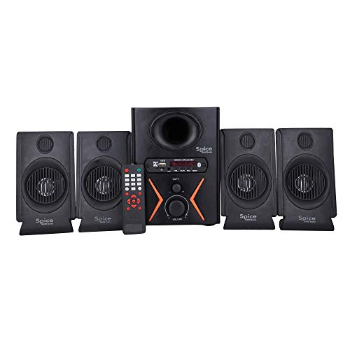SPICE GOLD Series F-450VV Model 4.1 Home Theater System USB & FM Multimedia Speaker System with Bluetooth (Black)