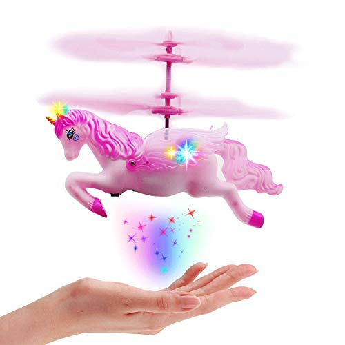 Girl Toys - Flying Unicorn Horse Fairy Helicopter Drone Toys Gifts for Kids Girls 8+ Year Old Birthday Easter Christmas Holiday
