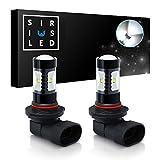 SIRIUSLED 9140 9145 H10 LED for Car Truck Fog light Bulb Super Bright projection 30W 6000K White Pack of 2