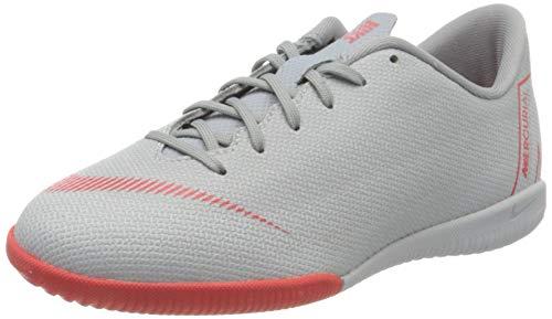 Nike Unisex-Kinder Mercurial VaporX XII Academy Indoor Fitnessschuhe, Mehrfarbig (Wolf Grey/Lt Crimson/Pure Platinum 060), 35.5 EU