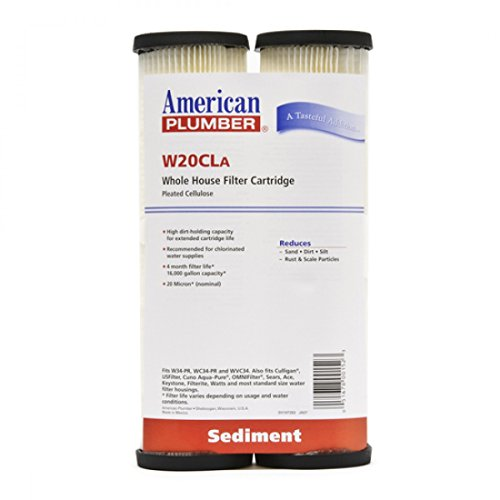American Plumber W20CLA Whole House Sediment Filter Cartridge 20 Micron Well Pump Irrigation (4)
