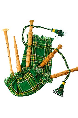 Kids Bagpipe Playable Bagpipe with Reed in Irish Heritage Tartan