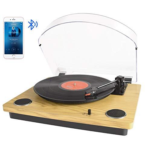 Tocadiscos Bluetooth para Vinilo con Altavoces estéreo,