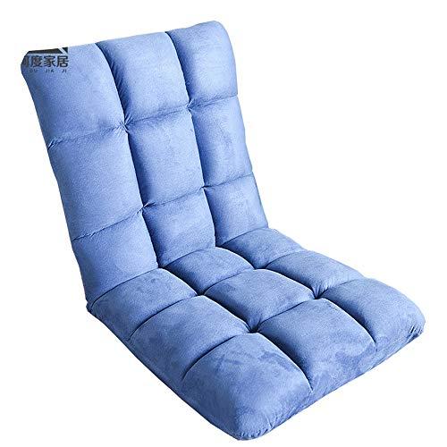 LJFYXZ Canapé Paresseux Chaise Réglage à 5 Vitesses Lavable Seul Petit canapé Salon Chambre Chaise Longue (Couleur : Bleu)