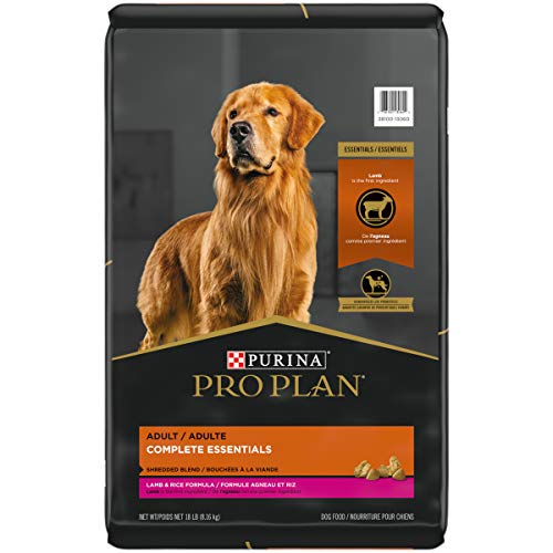 Purina Pro Plan High Protein Dog Food With Probiotics for Dogs, Shredded Blend Lamb & Rice Formula - 18 lb. Bag