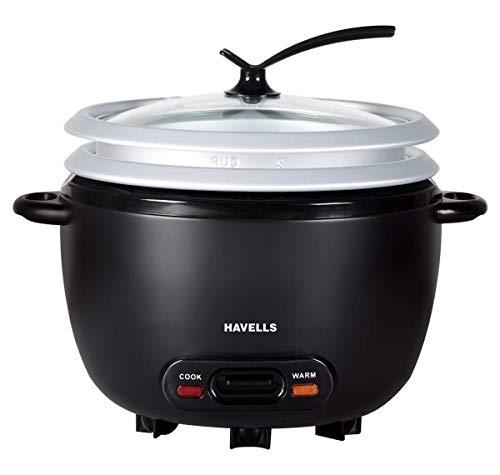 Havells GHCRCCZK070 1.8L Rice Cooker, Black