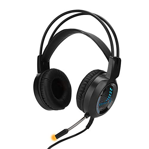 Game Esports Headset, met gekleurd licht, hooggevoelige anti-ruismicrofoon, Lexible PU-oorkap, instelbaar op het hoofd gemonteerd type, voor gameplayer, thuis