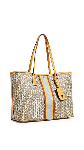 Fabric: Canvas Logo emblem, Striped ribbon trim Length: 15.25in / 39cm Height: 11.75in / 30cm Magnetic closure at top