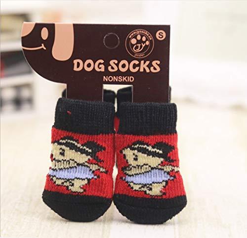 YAMEIJIA Hond Sokken, Huisdier Slip Sokken, Sweet 4 hond voeten, G,L