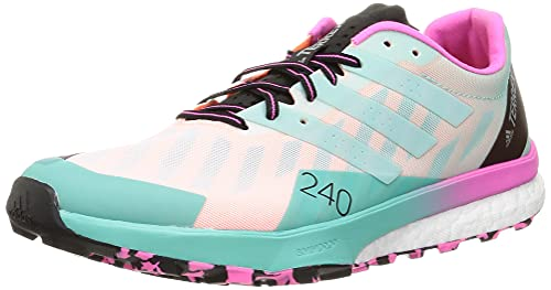 adidas Terrex Speed Ultra, Zapatillas de Trail Running Hombre, FTWBLA/MENCLA/ROSCHI, 46 EU