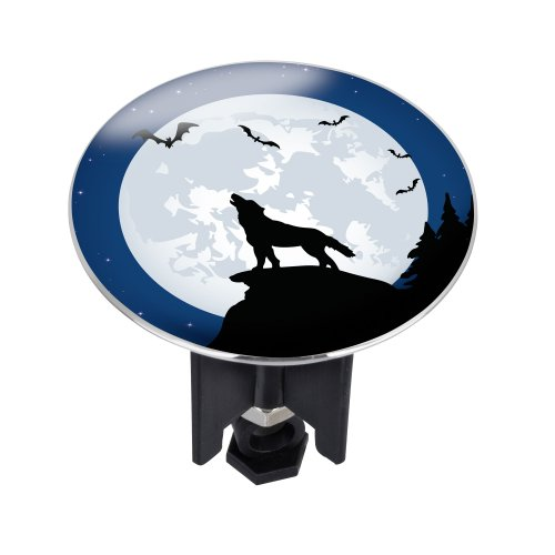 WENKO 21417100 Waschbeckenstöpsel Pluggy® XL Werewolf - Abfluss-Stopfen, fluoreszierend, für alle handelsüblichen Abflüsse, Kunststoff, 6.2 x 6.6 x 6.2 cm, Mehrfarbig