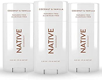 3-Pack Native Coconut & Vanilla Natural Deodorant for Women and Men