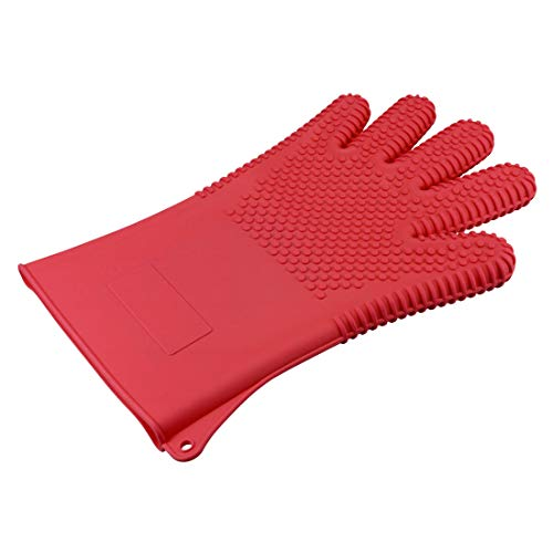 Best Review Of uxcell BBQ Grilling Gloves Oven Mitts Large Glove for Cooking Baking Barbecue Pothold...