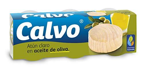 Calvo - Atun Claro en aceite de oliva - 3 x 80 g - [pack de 2]