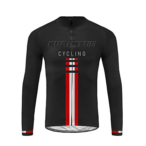 Uglyfrog Hombre Cycling Jersey Maillot Ciclismo Manga Larga Camiseta de Ciclistas Triatlón Ropa Ciclismo CXML06F