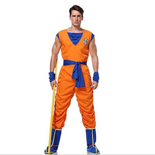 hengGuKeJiYo Dragon Ball Goku Kostüm Anzug Sohn Cosplay Kostüme für Erwachsene Jungen Mädchen Kind Kind Perücke Kleidung Set Phantasie Halloween