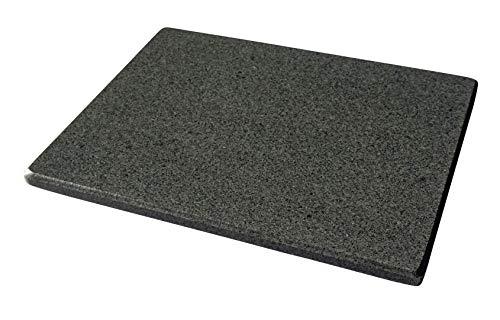 Universal Pizzastein - natürlicher Back-Grillstein aus poliertem Granit, dadurch sehr leicht zu reinigen XL 42x34x2cm