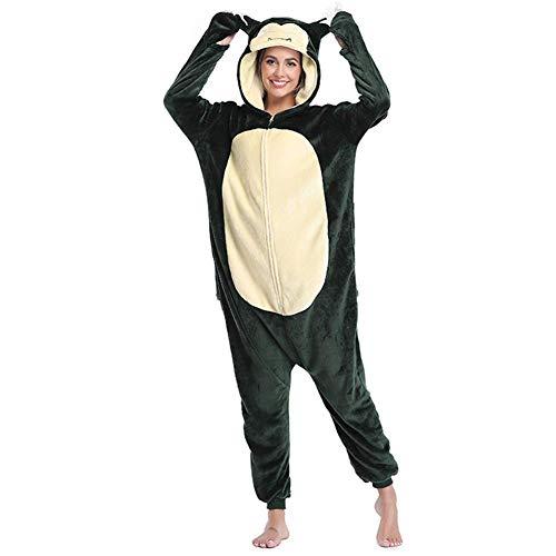 WSJF Cosplay Halloween kleidet Adult Baby Body Tier Pyjamas Baby Body Jumpsuit, Kostüm for Karneval, Halloween, Cosplay Overall Pyjamas - Erwachsene Unisex Homewear, Grün, S