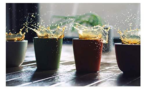 BCDJYFL Puzzles 1000 Piezas Puzzles Rompecabezas de Cuatro Tazas de café salpicando Adultos niños Art Arte DIY Juguetes