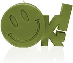 شموع كانديلانا 5902815467496 شموع عملاقة على شكل علامة أوك، زيتوني