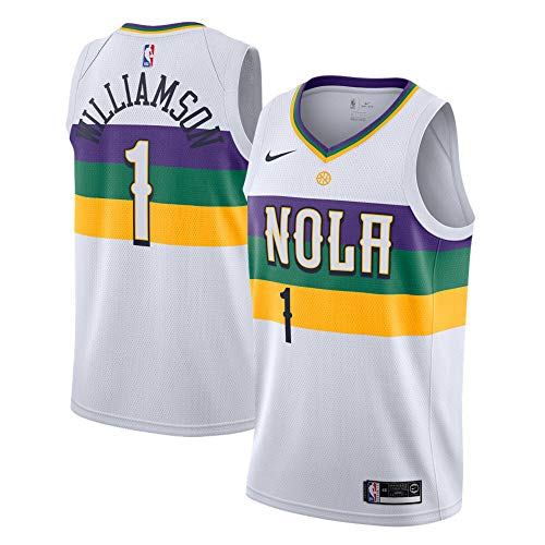 Zion Williamson New Orleans Pelicans #1 Youth 8-20 White City Edition Swingman Jersey (10-12)