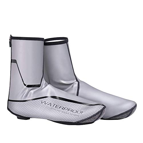 I will take action now Bike Shoes Cover, Waterproof Reflective Cycling Shoe Covers, Windproof Bicycle Lock Rain Snow Boot Protector Feet Gaiters (Size : XL 42-44)