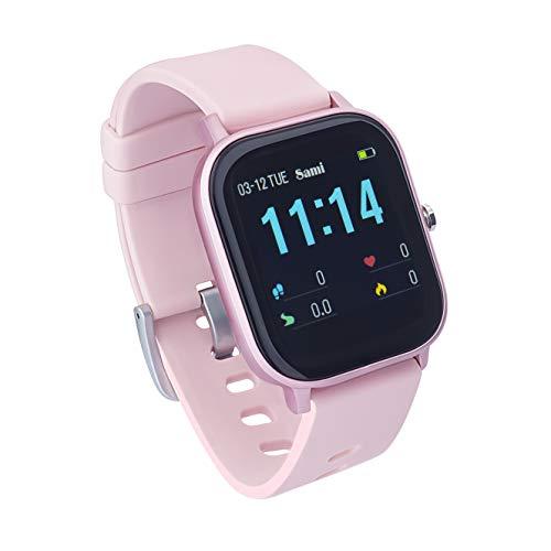 Sami - Evolution - Smartwatch, Smartband, Pulsera de Actividad Deportiva. Color Rosa. para Android y iOS Función: Cámara, GPS, presión sanguínea, Fuerza G, Multideportivo.