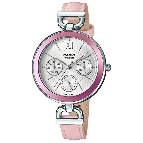 Casio Ltp-e406l-4avdf Reloj Analógico para Mujer Colección Collection Caja De Metal Esfera Color Plateado