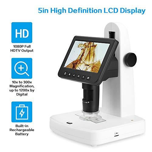 LCD digitale microscoop professioneel draagbaar 5 inch LCD-display 1080p Full HDTV-uitgangselektronenmicroscoop met polarisator