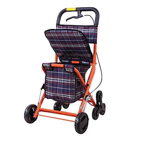 SXRL Rollator/Rollator, zusammenklappbar, Aluminium, gepolstert, mit Handbremse für Senioren