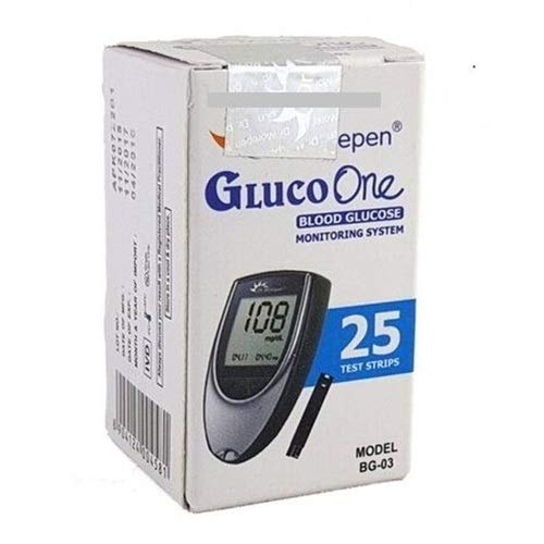 Dr. Morepen BG-03 Blood Glucose Test Strips, Pack of 25(No Glucometer)