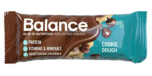 Balance Bar, Healthy Protein Snacks, Cookie Dough, With Vitamin A, Vitamin C, Vitamin D, and Zinc to Support Immune Health, 1.76 oz, 6 Count