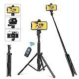 yohoolyo bastone selfie stick 4 in 1 treppiede per cellulare 137cm estensibile wireless bluetooth telecomando cavalletto iphone/telefono/smartphone/gopro/fotocamera yk-67