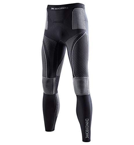 X-Bionic Energy Accumulator Origins Long Pants - Pantalón de compresión para Hombre, Hombre, EA-WP05W18M, Charcoal/Pearl Grey, XXL