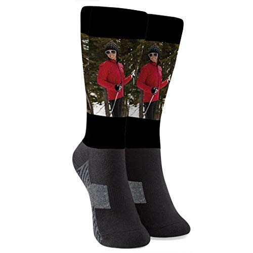 Personalized Photo Printed Mid-Calf Socks | Custom Cropped Picture | Large