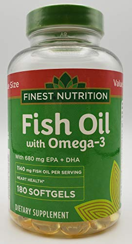 Finest Nutrition Fish Oil 1140 mg Extra Strength 180 Count 720 mg of Omega3
