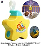 Toyify Baby Sleeping Stars Projector with Light and Music for Newborn,Babies, Infants Ba