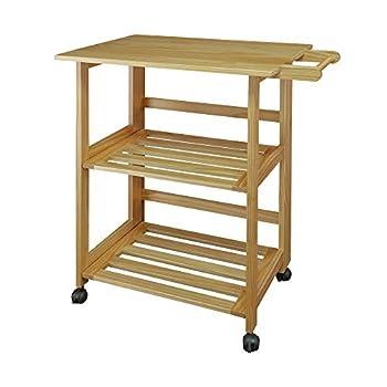 Casual Home Trek Folding Natural Kitchen Cart 27  W