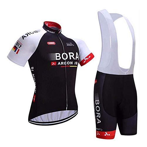 logas Herren Radtrikot Set 3D Gepolsterte Trägerhose Sommer Atmungsaktiv Kurzarm Bike Shirts Fahrradanzug …